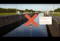 Waterline Ecluse Hensies - install interdite dans l'écluse !